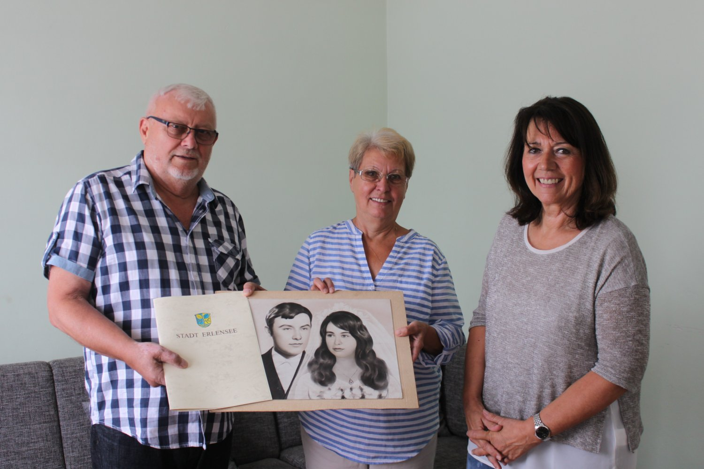 Seit 50 Jahren Ein Paar Eheleute Fagaraseanu Feiern Goldene