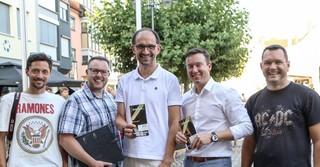 Von links: Nico Bensing, Geschäftsführer Bensing & Reith, Organisator Knut Koller, WITO Vorsitzender Axel Ruppert, Bürgermeister Matthias Möller und Thomas Krick, Vorstandsmitglied WITO.