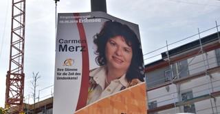 Auch Carmen Merz will ins Rathaus einziehen.