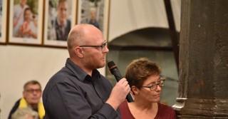 Karsten Dill, Ortsvorsteher Marborn und ehemalige Stadtverordnete Irmhild Lamm.