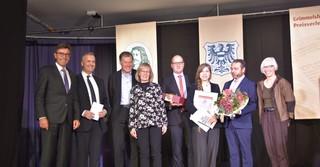 Die Jury zusammen mit Nele Pollatschek