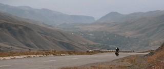 Die Abfahrt im Kaukasus (Armenien)