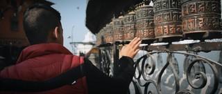 Gebetsrollen in Nepal.