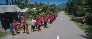 Schulkinder in Indonesien.