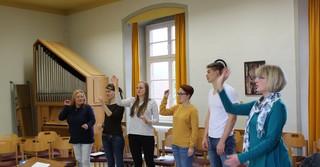 Chorleitungsunterricht in der KMF.