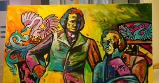 Das Gemälde hängt nun im Eingangsbereich des Seniorenheims Wohnstift in Hanau.