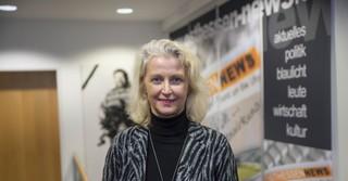 Pressesprecherin Pfarrerin Petra Schwermann beschreibt ihre neue Chefin als fröhlich, freundlich, interessiert.