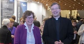 Im Fuldaer Schlosstheater mit Bischof Dr. Michael Gerber.