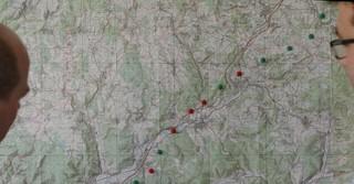 Die geplante aber noch nicht festgelegte Trassenführung der ICE-Strecke