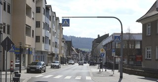 Kaum Verkehr in Schlüchtern in der Innenstadt
