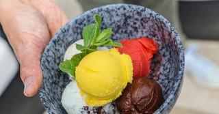 Verschiedene Sorten Eis ohne Zusatz von Stabilisatoren oder Geschmacksverstärkern.