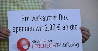 Zwei Euro pro verkaufter Box gehen an die LEBERECHT-Stiftung.