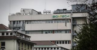 Das Gebäude der Firma Biontech in Marburg.