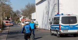 Die Polizei kontrollierte den gesperrten Bereich