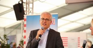 Wirtschaftsminister Tarek Al-Wazir (Grüne).