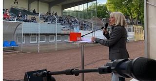 Bundestagskandidatin und Abgeordnete für den Wahlkreis 175, Bettina Müller.