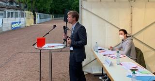 Bundestagskandidat für den Wahlkreis 180, Lennard Oehl.
