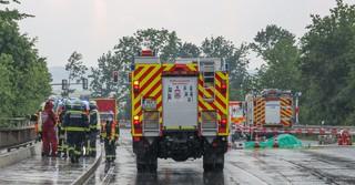 An der A66 ist ein Flugzeug abgestürzt - zwei Menschen starben