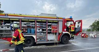 Die Feuerwehr ist mit einem Großaufgebot im Einsatz