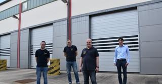 Das Rettungsteam v.l: Marcel Edelmann, Heiko Ruffolo-Schweitzer, Kai Heger und Fabian Gastine