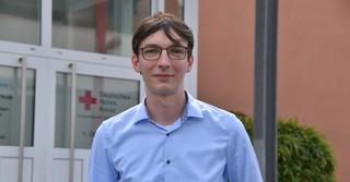 Fabian Gastine vom DRK