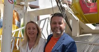 Bürgermeister Daniel Glöckner und Petra Schmidt