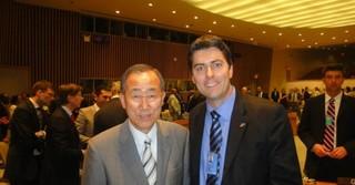 Mit dem damaligen UN-Generalsekretär Ban Ki-Moon in New York bei einer Sitzung des UN-Sicherheitsrates