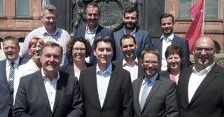 Mit vielen SPD-Bürgermeistern und derKreisspitze