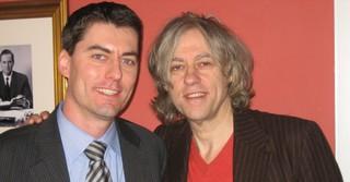 Mit Bob Geldof (Live Aid)