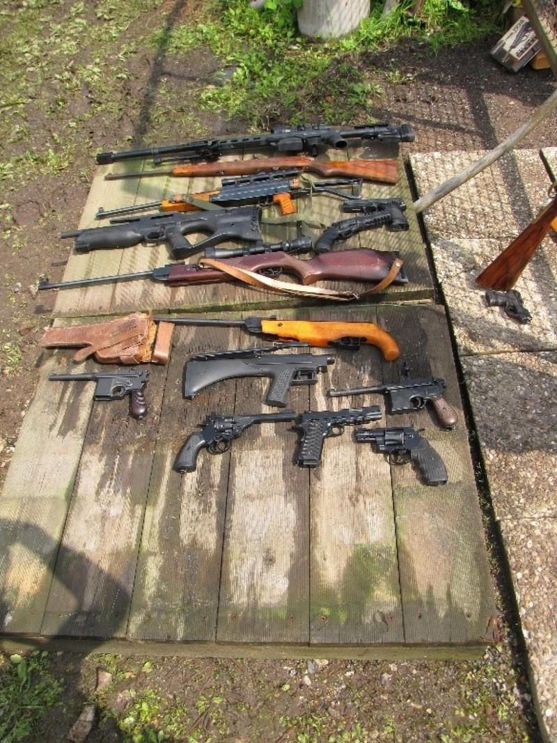 Sichergestellte Waffen in Frankfurt