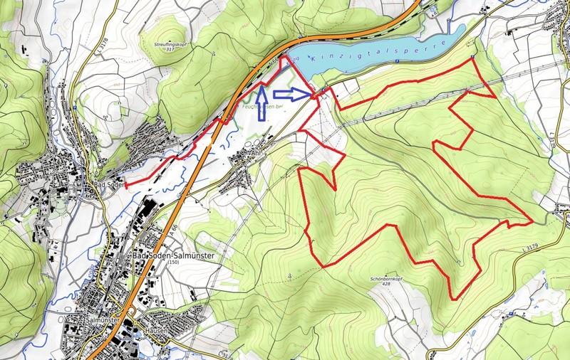 Die Laufstrecke führt von Bad Soden aus Richtung Kinzigtalsperre, von dort in südliche Richtung und in einer Schleife wieder zum Startpunkt zurück. - Foto: Main-Kinzig-Kreis