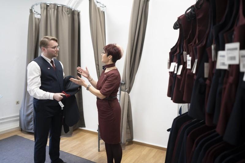 Vorher/Nachher - Die alte und neue Berufskleidung