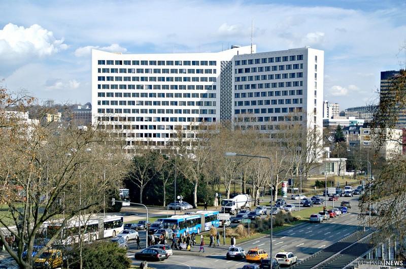 Das Hessische Innenministerium in Wiesbaden