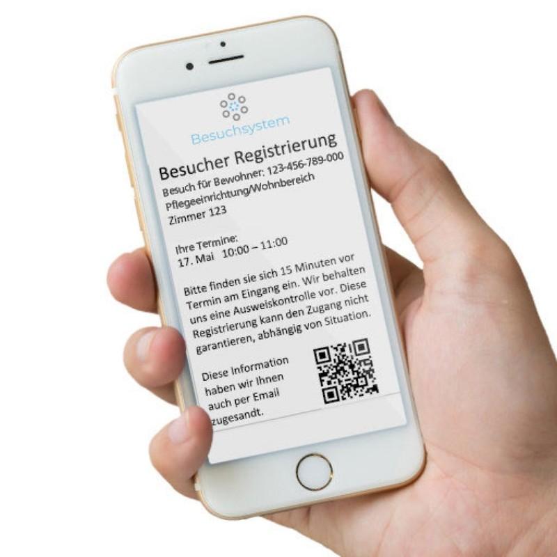 Ab sofort können Bewohner-Besuche in den Einrichtungen der APZ-MKK über das neue Buchungssystem registriert werden.
