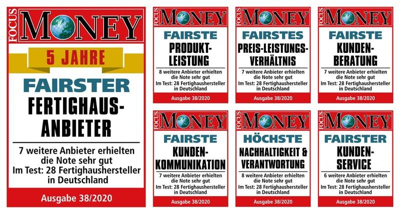 Dauerhaft gut: Bien-Zenker ist 'Fairster Fertighausanbieter' – auch in der neuen 5-Jahres-Wertung