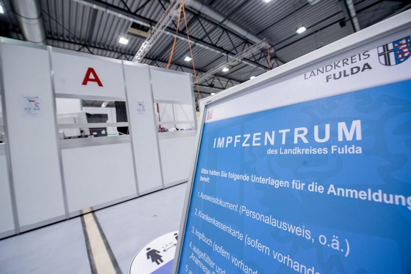 Das Impfzentrum in Fulda